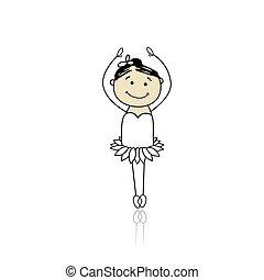 carino, poco, ballerino balletto, disegno, tuo