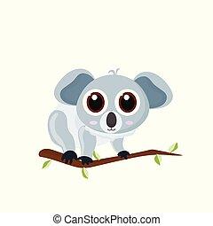 Orso di koala del fumetto disegnato a mano di vettore immagine