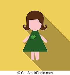 carino, presa a terra, cuore, -, santo valentino, ragazza, vestire, giorno