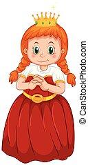 carino, principessa, costume