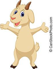 carino, proposta, goat, cartone animato