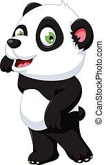 carino, proposta, panda, cartone animato