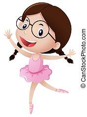 carino, ragazza, balletto, costume