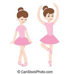 carino, ragazze, ballerina