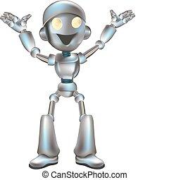 carino, robot, illustrazione