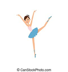 carino, scuola, ballerina, ballo, ragazza, festa, sorridere felice