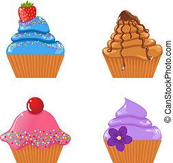 carino, set, cupcakes