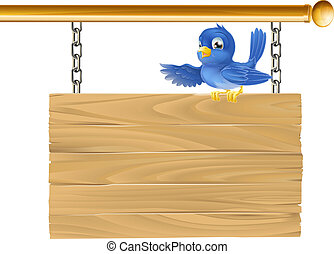 carino, silicio, appendere, uccello azzurro, seduta