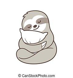 carino, sonnolento, bradipo