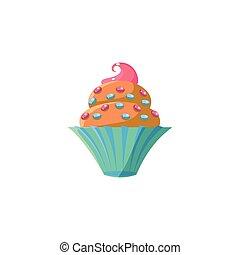 carino, spruzzatine, cupcake