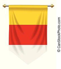 Carinthia Pennant - Carinthia flag or pennant isolated on...
