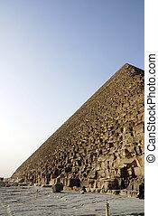 cario, エジプト, ピラミッド, 側, ギザ