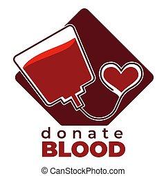 carità, medico, isolato, donazione, sangue, aiuto, donare,...