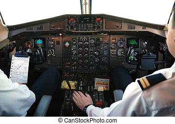 carlinga, avión