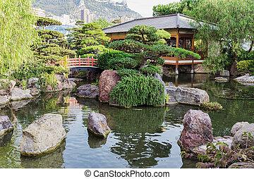 carlo, monte, モナコ, 庭の日本人