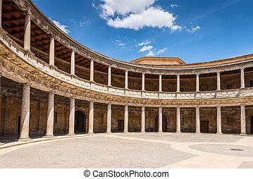 Carlos V Palace, the Alhambra. Granada, Spain