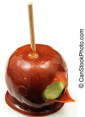 Carmel Apple Close Up - A traditional caramel apple shot ...