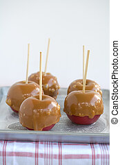 Carmel Apples - Carmel toffee apples fresh out of the oven