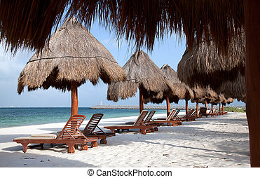 carmen, del, 浜, playa, メキシコ\
