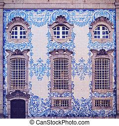 Carmo Church in Porto - Tiled Wall of Carmo Church in Porto,...