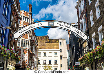 Carnaby street sign in London