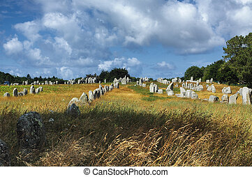 Carnac (Brittany, France): menhir - Carnac, Morbihan,...