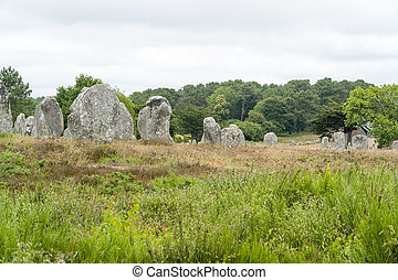 Carnac stones in Brittany