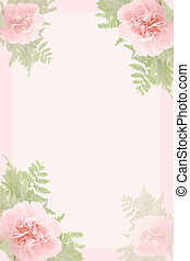 carnation border - beautiful pink carnation border and green...