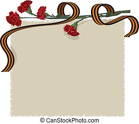 carnation flower and ribbon