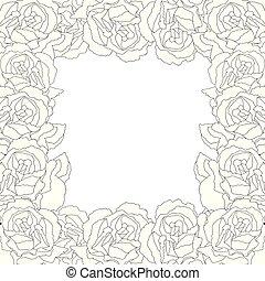 Carnation Flower Outline Border2 - Carnation Flower Outline...