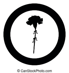 Carnation  icon black color in circle