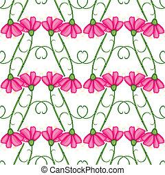 Carnation seamless pattern