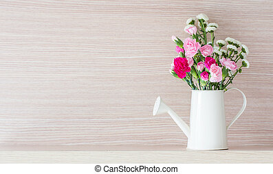 Carnations in watering