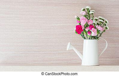 Carnations in watering