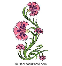 Carnations vector drawing
