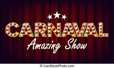Carnaval Amazing Show Banner Sign Vector. For Party Festival Signboard Design. Circus Style  sc 1 st  Can Stock Photo & Carnaval tent. A circus tent vectors - Search Clip Art ...