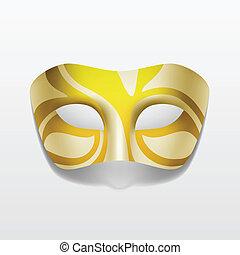 carnaval, máscara de mascarada, aislado, vector, fiesta