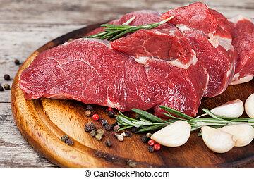 carne crua, carne