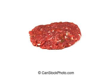carne crua, chão