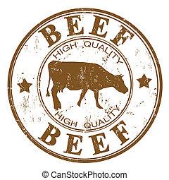 carne de vaca, estampilla