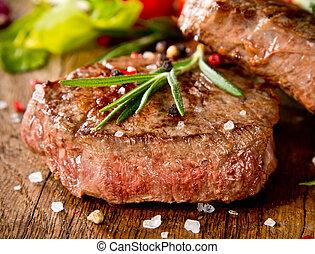 carne de vaca, filetes