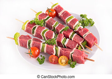 carne de vaca, kebab