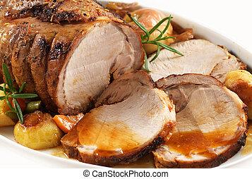 carne di maiale, arrostito