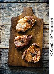 carne di maiale, pezzi