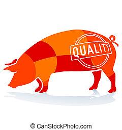 carne di maiale, qualità