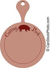 carne di maiale, tagliere, cucina