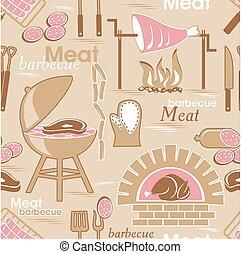 carne, fundo, seamless