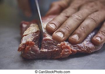 carne, hoja, sank