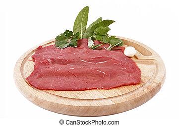 carne, magra-lean, mięso, czerwony, rossa
