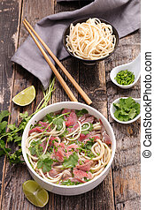 carne, pho, e, ingrediente
